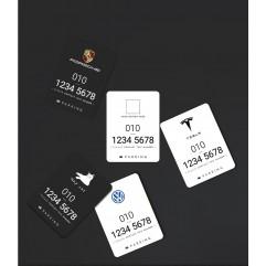 메탈 주차번호판-카드형