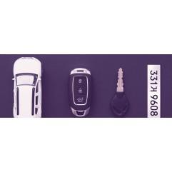 [키링]크로마 자동차번호판(고급 열쇠고리포함)
